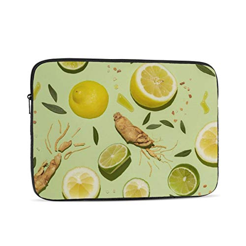 Lemon Fruit Laptop Sleeve 17 inch, Shock Resistant Notebook Briefcase, Computer Protective Bag, Tablet Carrying Case for MacBook Pro/MacBook Air/Asus/Dell/Lenovo/Hp/Samsung/Sony