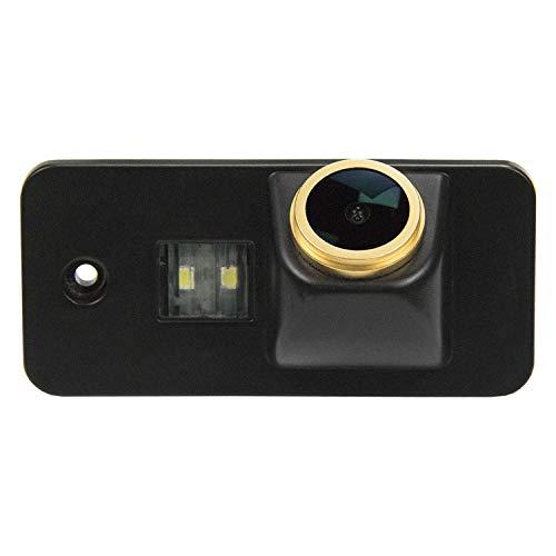 HD Telecamera posteriore D'oro retromarcia Fotocamera 1280 * 720p Retrocamera impermeabile Visione Notturna per Audi A3 8P 8V S3 A4 B6 B7 B8 S4 A6 C6 S6 RS6 A8 RS4 TT 8N Q3 Q5 Q7