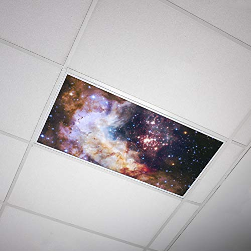Octo Lights Fluorescent Light Covers for Classroom Office - Eliminate Harsh Glare Causing Eyestrain and Headaches. Office & Classroom Decorations - Astronomy 018