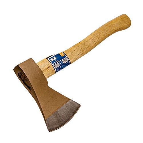 HIGO Axt 1000 5310, Holzhandgriff verhärteter Axtkopf, Spaltaxt für Hausgebrauch