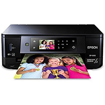 Epson Expression Premium XP-640 Small-in-One All-in-One Printer (Renewed)