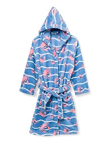 Playshoes Unisex Kinder Krebs Bademantel, Blau/Pink, 98/104