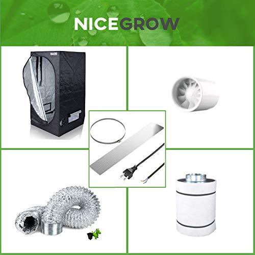 Growbox Growzelt 100 Abluft-Set Quietline Lüfter 197cbm/h Aktivkohlefilter Grow