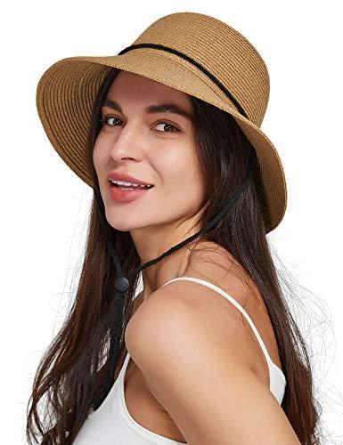 Gisdanchz Cappello Paglia Donna de Sole Cappelli Donna Mare Estivo Tesa Larga Cappello Donna...