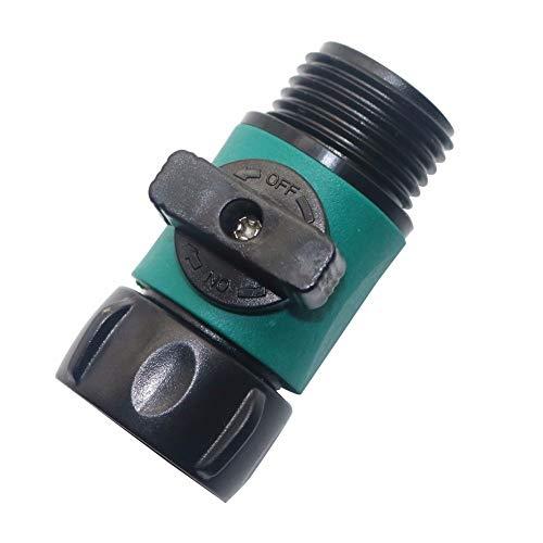 WSF-JIETOU, 5 piezas de jardín válvula de la manguera Grifo de tuberías compatibles 3/4' Válvula Conector 2 vías Montaje de Suministros adaptador Herramienta de riego