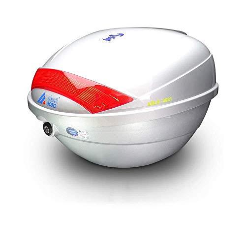 H-Portaequipajes Y Caja Casco De La Motocicleta Top Box/Case 23L Cola ABS...