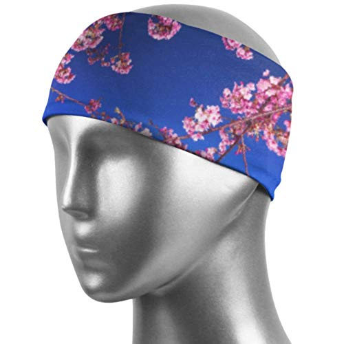 Verctor Bandeaux élastiques Mimura Japon Sakura Cherry Blossom Highway City Ni Cheveux Bandeau Unisexe évacuation de l'humidité