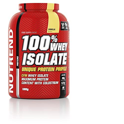 Nutrend 100% Isolate whey Protein Powder Vanilla 1800g Diet Weight-loss (WPI) amino acids (BCAA), low sugar, CFM method
