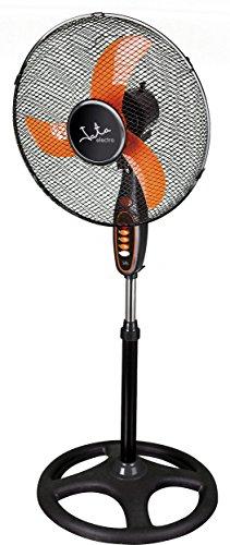 Jata VP3030 Ventilador de Pie con Cabezal Inclinable y Oscilación Automática, 40 W, Negro y Naranja