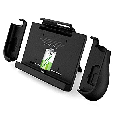 BigBlue 10000mAh Battery Charger Case Compatible with Nintendo Switch with Joy-Con Grip, Support PD Quick Charger, Portable Travel Switch Charging Case with Kickstand & Game Card Slot, New Version