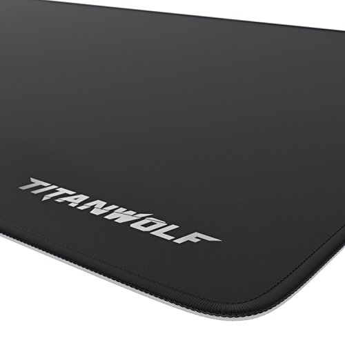 CSL – XXL Speed Gaming Mauspad Titanwolf – 900 x 400mm – XXL Mousepad – Tischunterlage Large Size – Perfekte Präzision und Geschwindigkeit - 2