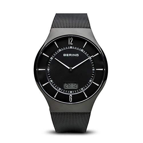 BERING Herren Analog Funk Collection Armbanduhr mit Edelstahl Armband und Saphirglas 51640-222