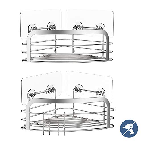Eckablage Ohne Bohren Avoalre Dusche Eckregal aus Edelstahl Duschkorb zum hängen, 2 Pack Badregale ohne Bohren