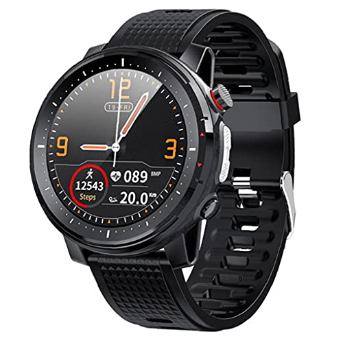 Smart Watch Bluetooth Deportes Pulsera IP68 Hombres impermeables Mujeres Touch Pantalla Táctil Rastreadores Fitness Trackers Negro Herramientas gratis