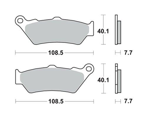 Plaquettes de frein TRW MCB671SH pour HONDA NT 650 V Deauville RC47 98-01 (avant)