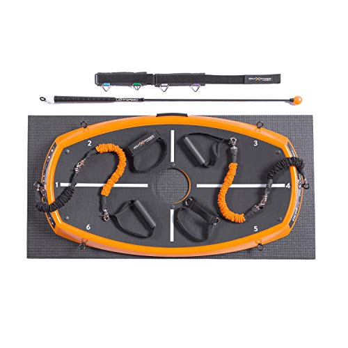 Orange Whip GFX Power Peel Package - Golf Swing Training Kit with Orange Peel, Lightspeed Trainer, Resistance Bands, Band Connection Points and Yoga Mat - Plus (All Bands)