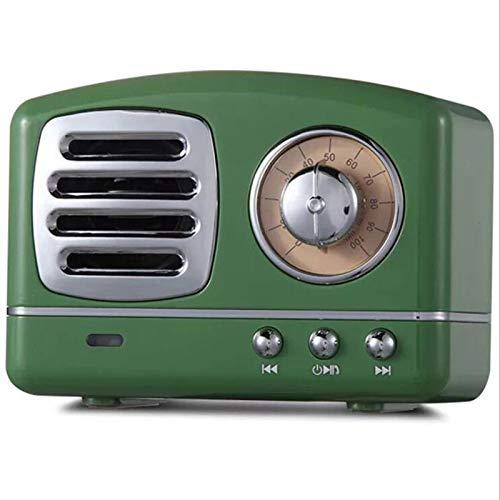 KANGLE-DERI Drahtloser Bluetooth-Retro-Audio-Lautsprecher, Mini tragbarer altmodischer Stil nostalgischer...