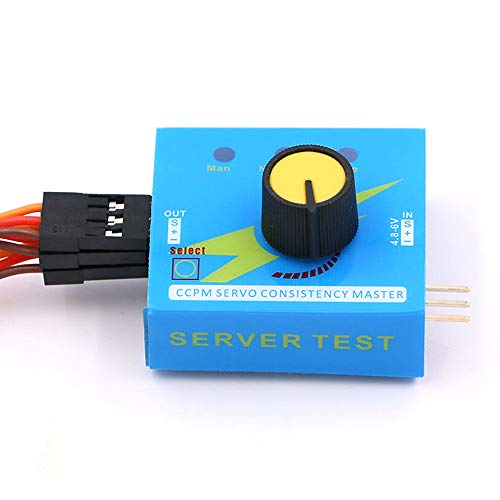 HAWK HOBBY Blue Case Servo Tester with 3 Channel for Multi Servo and Brushless ESC Testing Which in Combination with Rc Airplane Helicopter Car and Boat CCPM SERVO Consistency Master
