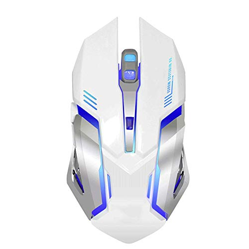 Wireless Gaming Mouse,Ergonomic Design Cordless Mouse 2400dpi Adjustable, USB Charging Multifunctional Cordless Mouse, Wireless Mouse for Laptop, With Six Buttons Seven Colors Breathing Light.