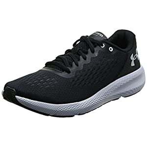 Under Armour mens Charged Bandit 6 Running Shoe, Black/White, 10.5 US