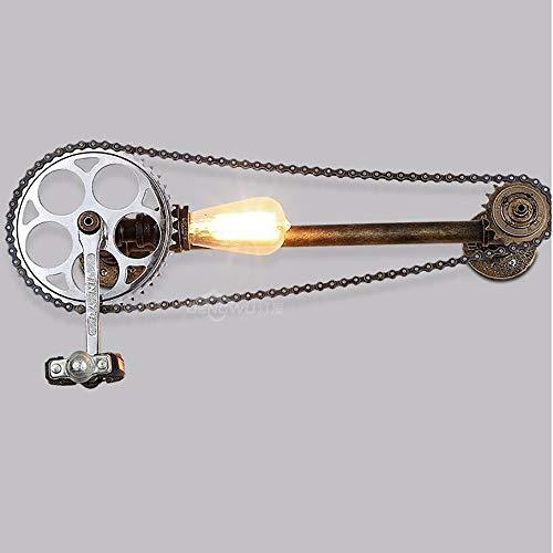 ChangHua1 Retro lámpara de Pared Industrial Viento Loft Creativo Bar café Pasillo Personalidad Personalidad Bicicleta Tubo de Agua lámpara de Pared Pintura Hierro artesanía lámpara de Pared