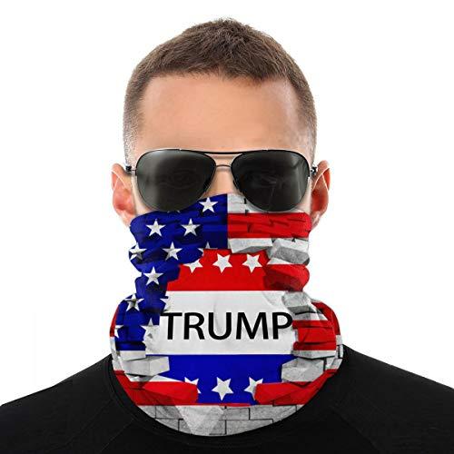 American USA Trump Flag Bandana Womens Neck Gaiter Reusable Lightweight Breathable Headscarf Novelty Sun Protection Face Scarf Balaclava for Men