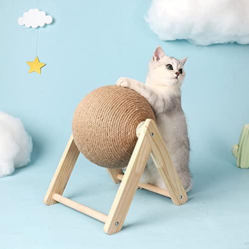 Katzen Kratz Ball,katzenspielzeug, Spielzeug Bälle für Katzen,Sisal Seilbälle Brett Schleifen PfotenRoller Seil Katze Interaktiv Spielzeug Katze Fänger und Trainingsgerät Lustig Haustier Spielzeug