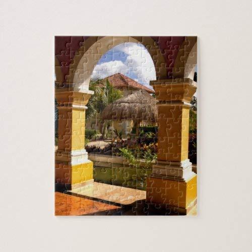 Tamengi México, Riviera Maya, arquitectura en Iberostar Jigsaw Puzzle 1000 piezas 500 piezas