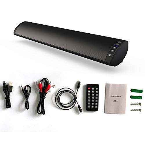 Barra de sonido, con cable e inalámbrico, mini altavoces de barra de sonido para cine en casa sonido surround con subwoofer integrado para TV/PC/móvil/tablet con mando a distancia.