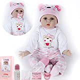 ZIYIUI DOLL 22 Pulgadas 55 cm Realista Reborn Babys Muñecas Chica Suave Juguetes de Silicona...