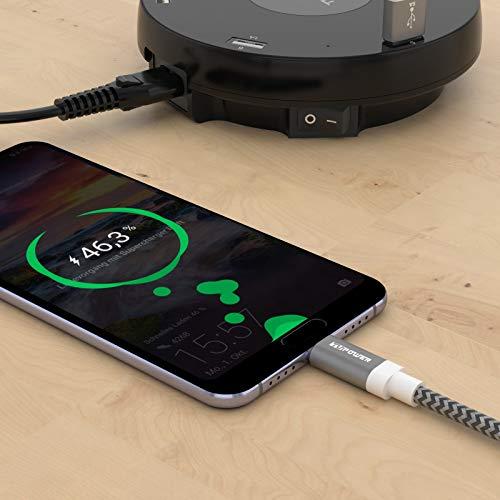 TUPower K20 USB-C Kabel flexibel Supercharge Ladekabel 1,8m auf USB 2.0 5A lang geeignet für Huawei P30 Pro P20 Mate 30 20 Pro Handy