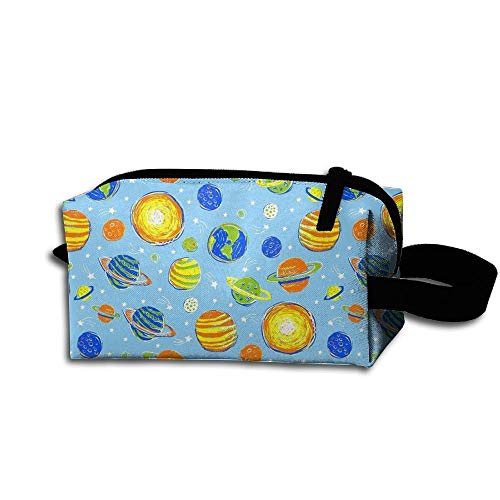 Travel Makeup What Planet are You from Beautiful Waterproof Cosmetic Bag Quick Makeup Bag Pencil Case