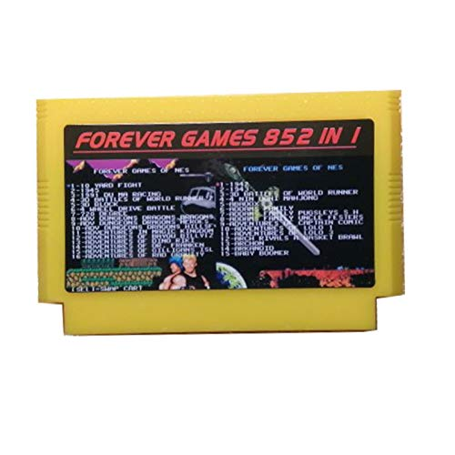 Red plum GAOHEREN Forever Duo Games of 852 en 1 (405 + 447) Cartucho de Juego para 60pins Cart Car Carrito, Total 852 Juegos 1024Mbit Flash Chip en Uso GHR (Color : Yellow)