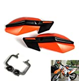 7/8 inche 1 1/8 inches Hand Guards Handguard Protector Protection For EXC EXCF SX SXF SXS MXC MX XC XCW XCF XCFW LC4 EGS Dirt Bike Off Road (Orange)