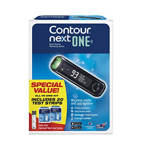 The CONTOUR NEXT ONE Blood Glucose Monitoring System All-in-One Kit for Diabetes