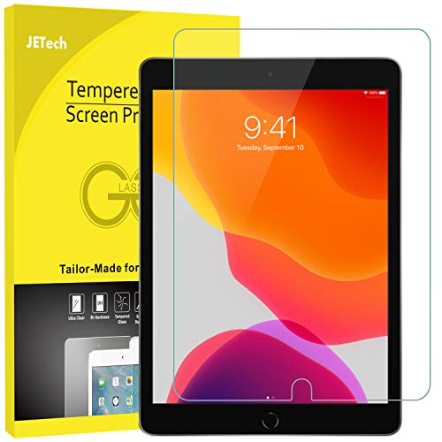 JETech Screen Protector for Apple iPad 7 (10.2-Inch, 2019 Model, 7th Generation), Tempered Glass Film