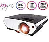 Myra Q6 LED Projector 3000 Lumens 3D Projector Home Theater Projector LCD Video