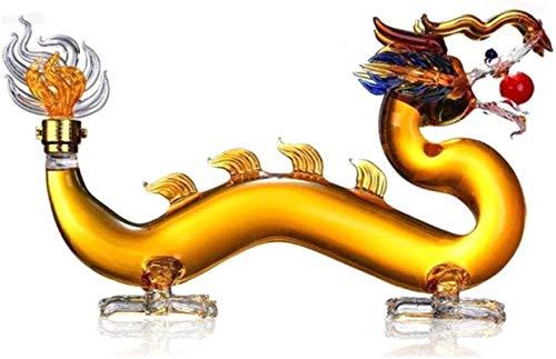 HYJMJJ Jarra de Whisky Anterio en Forma de dragón, Regalos creativos de artesanía Transparente Regalo de Whisky para Hombres