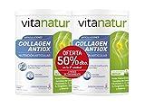 Vitanatur DUPLO COLLAGEN ANTIOX PLUS 2 Botes de 360g -  Complemento alimenticio colágeno Peptan, ácido hialurónico, Regenerador y...