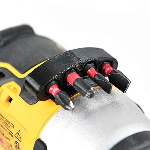 Drill Bits Mount Holder For DeWalt Milwaukee Makita Cordless Power Drill/Driver (Yellow)