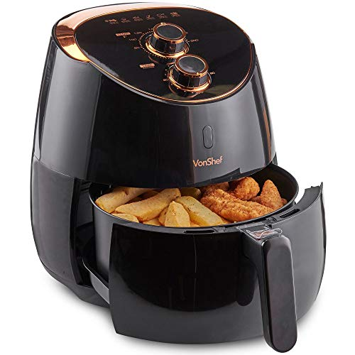 VonShef 5L Air Fryer for Healthy Low Fat Cooking with Adjustable...