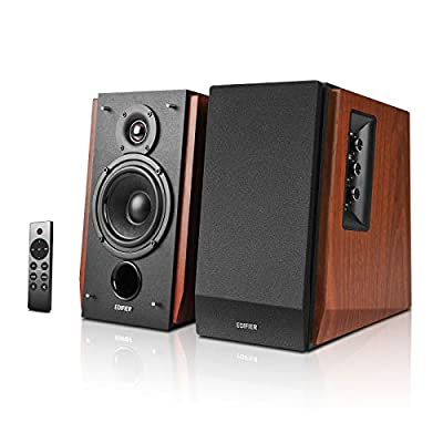 Edifier R1700BTs Active Bluetooth Bookshelf Speakers - 2.0 Wireless Near Field Studio Monitor Speaker - 66w RMS with Subwoofer Line Out - Wooden Enclosure by Edifier