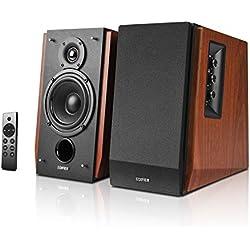 Edifier R1700BTs - Altoparlante attivo Bluetooth v5.0, 2.0, altoparlante da studio senza fili, 66 W RMS con uscita subwoofer, cassa in legno