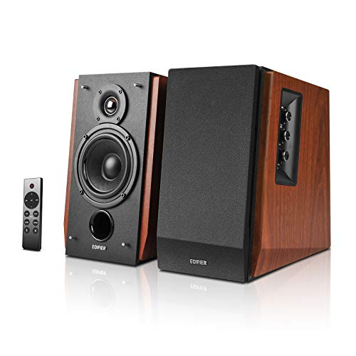 Edifier R1700BTs Active Bluetooth Bookshelf Speakers - 2.0 Wireless Near Field Studio Monitor Speaker - 66w RMS with Subwoofer Line Out - Wooden Enclosure