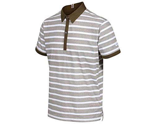 Regatta Mens Morrie Cotton Stripped Casual Polo Shirt