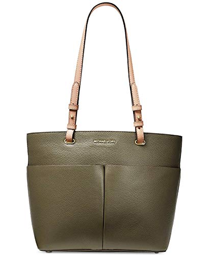 """Genuine pebbled leather Double adjustable shoulder straps with 10 1/2"""" drop; gold tone hardware Top zip closure; four exterior slip pockets Interior features zip pocket; 7 slip pocket; key keeper Approximate dimensions: 14 1/2"""" (Lat top), 11"""" (L at b..."""