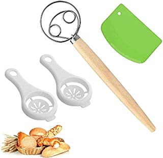 Danish Dough Whisk Bread Mixer Set Dough Sc Bread Making Tools Set For Bread, Batter, Cake, Pastry, Perfect Baking Tool Pa...