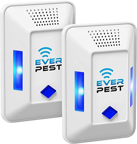 Model T1 Ultrasonic Pest Repeller Plug in - Electronic Insect Control Defender 2Pack - Roach Bed Bug Mouse Rodent Mosquito Killer
