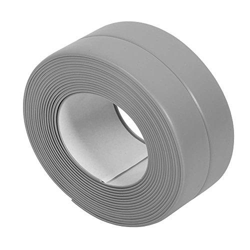 POWERTOOL Caulk Strip, 2pack Zelfklevend Waterdicht/Kauwgom Preventie Tape voor Badkamer/Keuken/Toilet/Wandhoek 3.2m*3.8cm Grijs