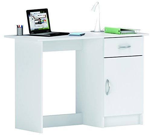 Demeyere 1126 Schreibtisch mit 1 Türig und 1 Schublade osiris, 108.5 x 75 x 50 cm, perle weiß